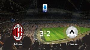 El Milan vence 3-2 al Udinese en el Giuseppe Meazza