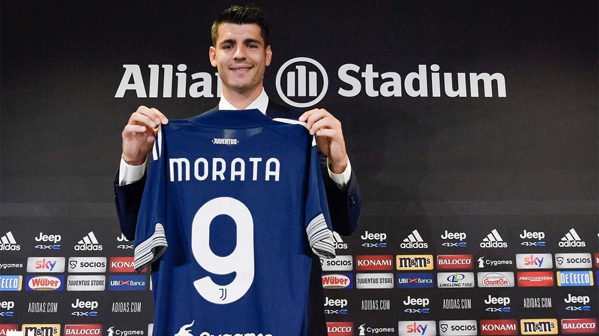 Morata, en su presentación: Es bonito estar de vuelta en la Juventus