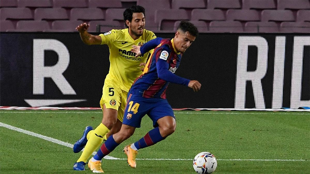 Un paradón de Asenjo evitó el gol de Coutinho