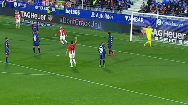 ¿En qué estaba pensando el portero del Huesca en el segundo gol de Aduriz?