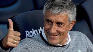 Quique Setién sentó cátedra en el Camp Nou