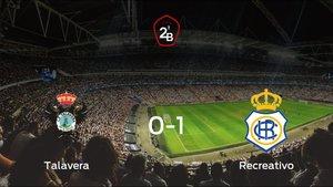 El Recreativo se queda con los tres puntos tras vencer 0-1 al Talavera de la Reina