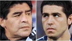 La relación entre Maradona y Riquelme hace años que se rompió