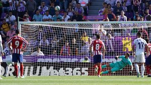 Sandro envió por encima del travesaño el penalti ante el Atleti
