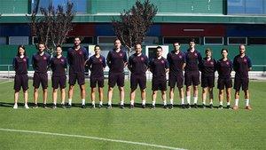 El staff del Barça femenino