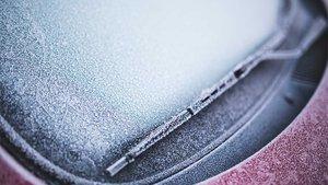 Aspecto habitual de un parabrisas en invierno.