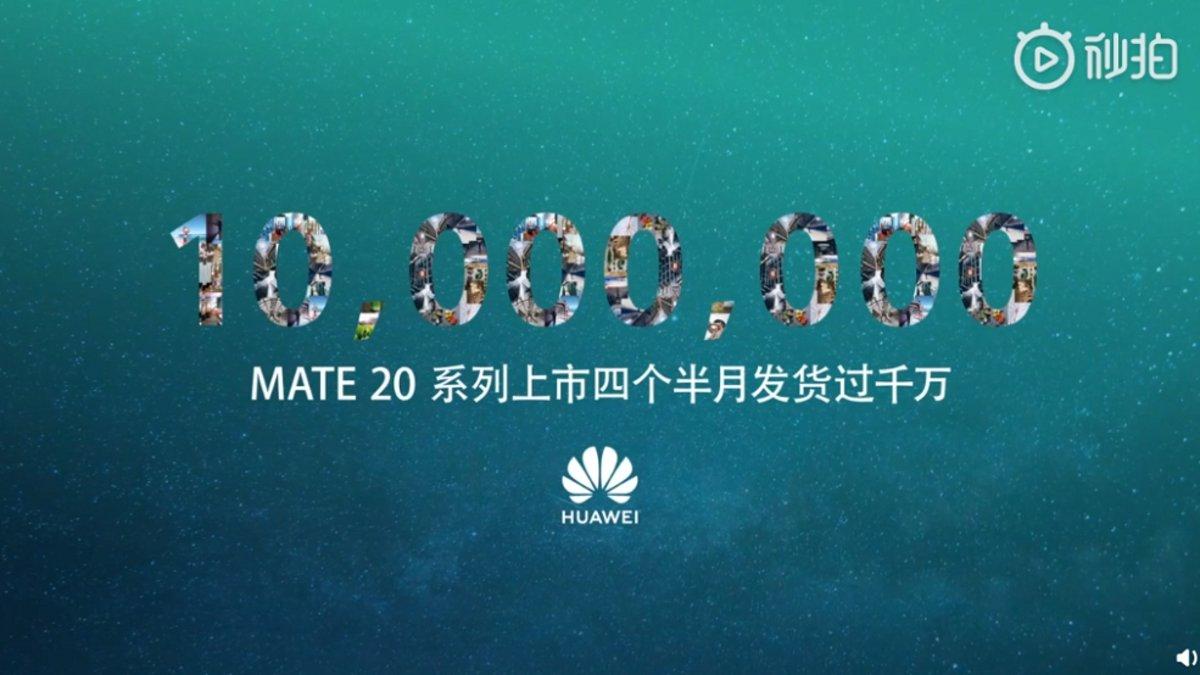 419c40aa4b12 Los Huawei Mate 20 alcanzan los 10 millones de unidades vendidas