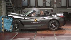 BMW Z4 sometiéndose a las pruebas de Euro NCAP.