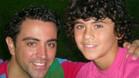 Aleñá, junto a Xavi durante su etapa en las categorías inferiores del Barcelona
