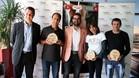 Antonio Gassó, durante el acto de premiación con los atletas más distinguidos de la Cursa Bombers'2017