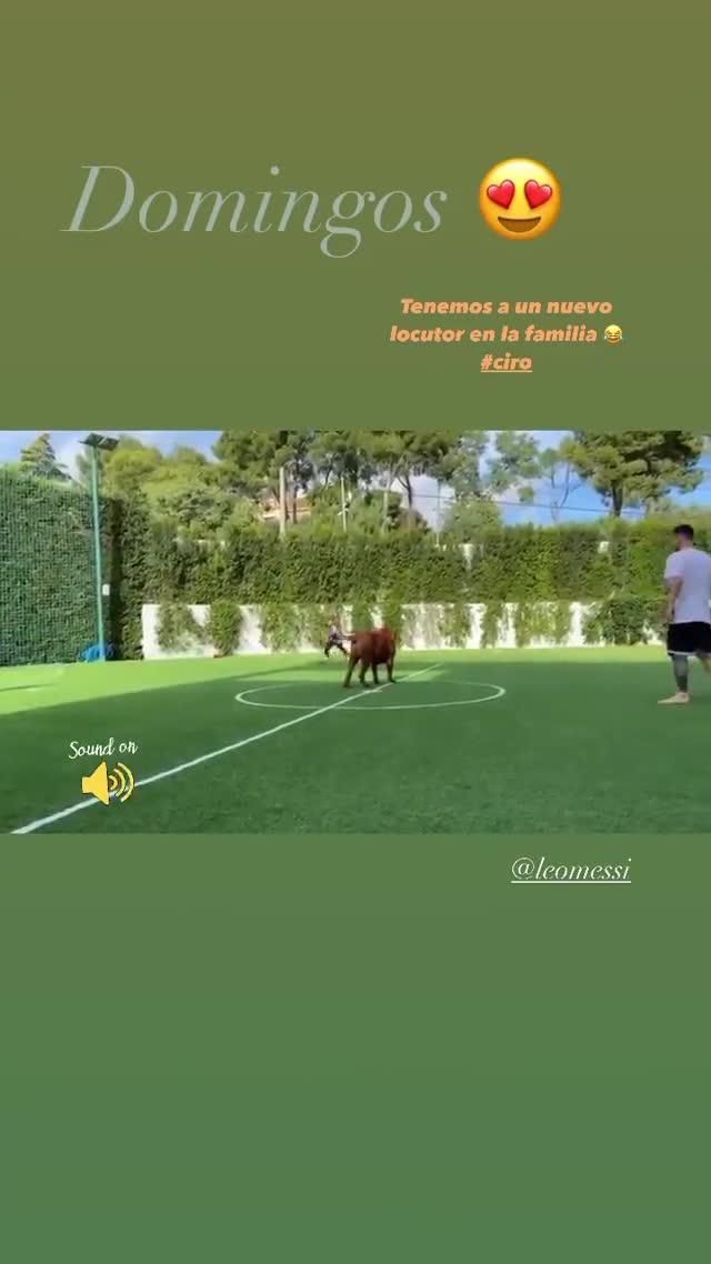 Así pasa la familia Messi un domingo