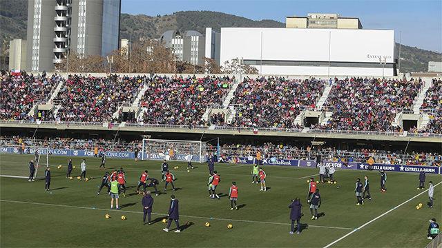 Así ha sido el entreno a puertas abiertas del Barça