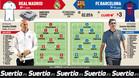 El Barça, con el 'tridente' ante su eterno rival