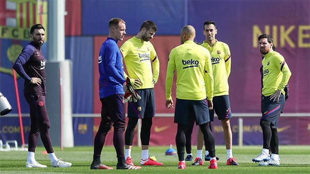 El Barça se prepara para la Real