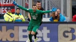 Brignoli celebrando su agónica anotación ante el Milan