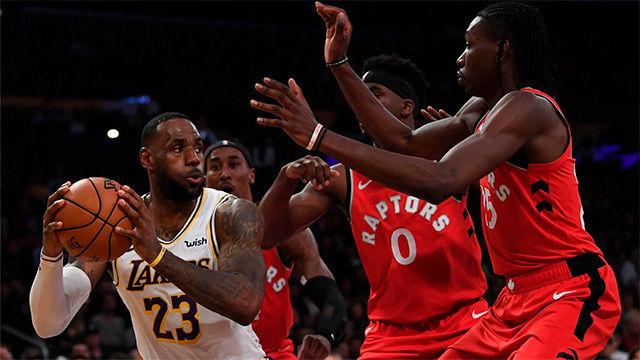 Brutal tapón de The King James en una jornada negra para los Lakers