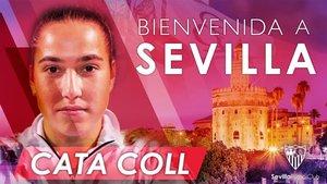 Cata Coll jugará en el Sevilla esta temporada