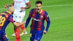 Coutinho igualó el partido ante el Sevilla