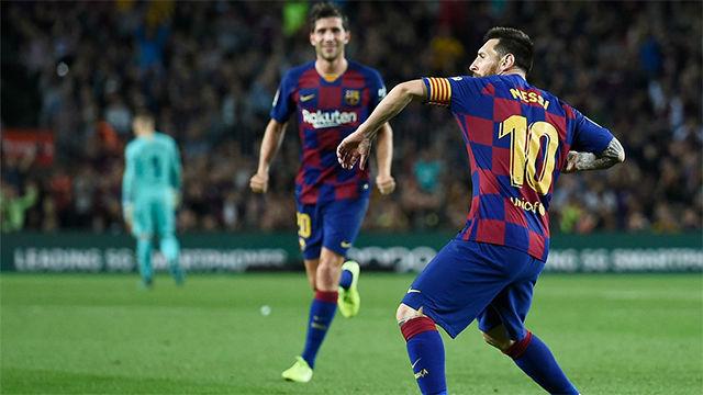La cuenta goleadora de Messi este curso solo podía empezar así: Con un golazo de falta