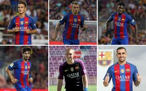 Denis Suárez, Lucas Digne, Samuel Umtiti, André Gomes, Jasper Cillessen y Paco Alcácer, las seis caras nuevas del FC Barcelona 2016-2017
