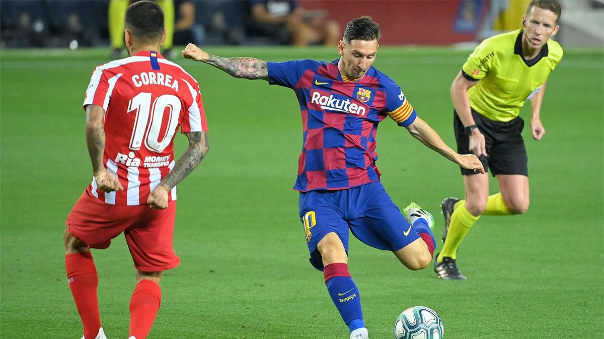 La épica narración del panenkazo de Messi... que no le sirvió al Barça