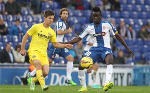 Eric Bailly, en el partido ante el Villarreal
