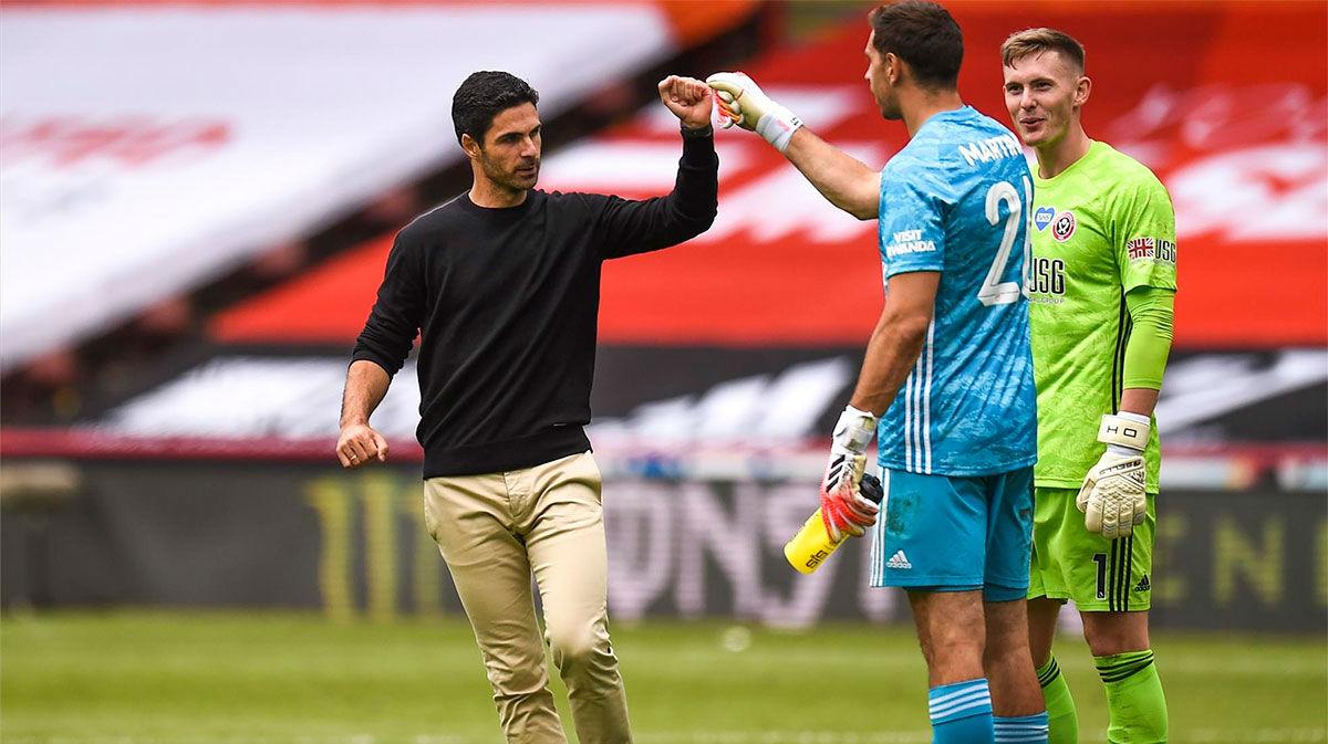 La felicidad de Arteta tras la agónica victoria con un gol de Dani Ceballos