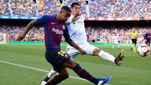 El Getafe avisó al Barça con un gol que acabó siendo anulado
