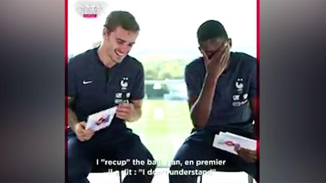 Griezmann y Dembélé se lo pasan en grande entrevistándose
