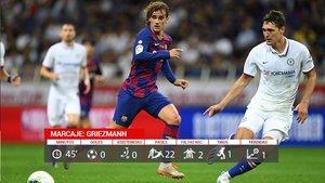 Griezmann jugó sus primeros minutos con el Barcelona