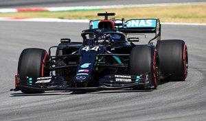 Hamilton, en el Circuit de Barcelona