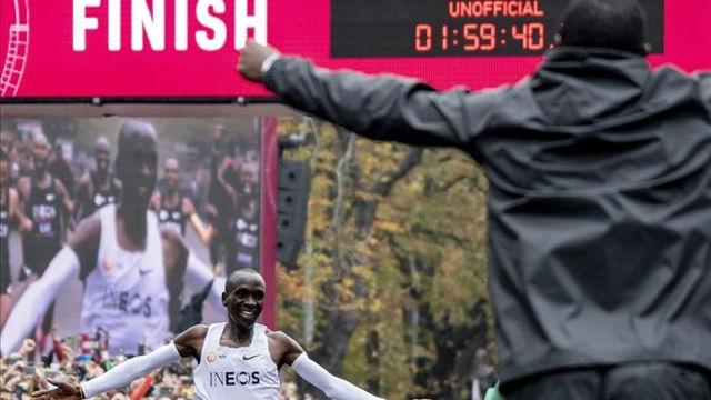 ¡Histórico! Kipchoge baja de las 2 horas en maratón