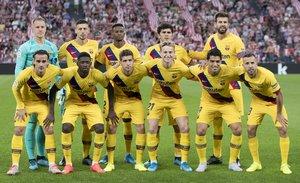 Imágenes del partido entre el Athletic Club Bilbao,1 - FC Barcelona, 0 correspondiente a la jornada 01 de LaLiga Santander y que se ha disputado en San Mamés, Bilbao.