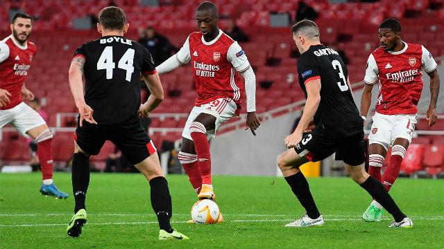 ¡Imparable y a la escuadra! Pépé sentenció al Dundalk y marcó uno de los goles de la jornada