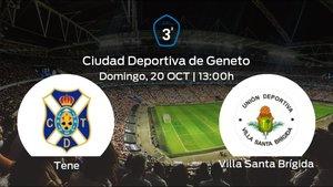 Jornada 9 de la Tercera División: previa del duelo Tenerife B - Villa Santa Brígida