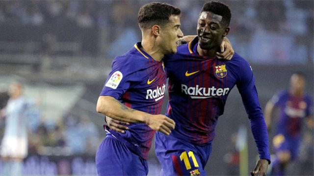 LALIGA | Celta - FC Barcelona (2-2): El gol de Dembélé