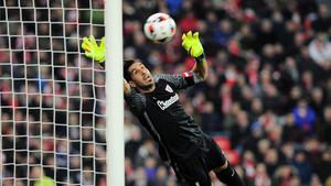 El lanzamiento de Messi sorprendió a Gorka