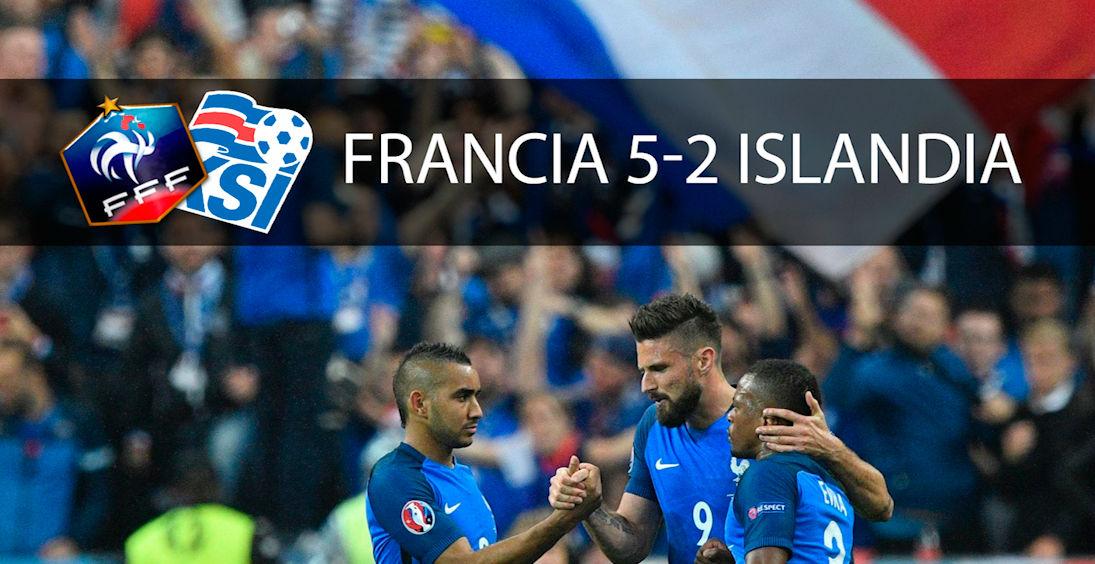 Las mejores imágenes del Francia - Islandia