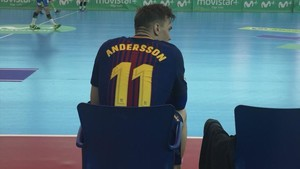 Lasse Andersson, en Zamora a punto de redebutar con el Barça Lassa