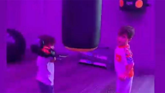 Los hijos de Messi cambian de deporte... ¡Se pasan al boxeo!
