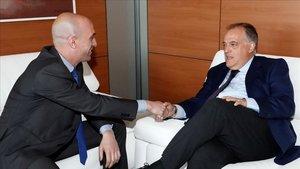 Luis Rubiales junto a Javier Tebas