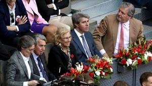 Manuela Carmena durante la final masculina del Mutua Madrid Open