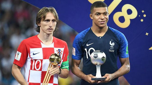Modric y Mbappé, galardonados en el Mundial de Rusia