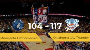 Oklahoma City Thunder se impone por 104-117 frente a Minnesota Timberwolves