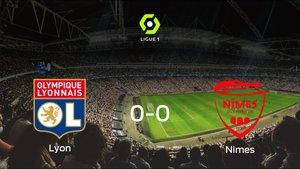 El Olympique Lyon y el Olimpique de Nimes empatan a cero en el Parc Olympique Lyonnais