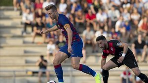Oriol Busquets, en un partido con el Barça B
