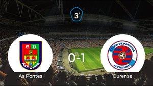 El Ourense suma tres puntos a su casillero ante el As Pontes (0-1)