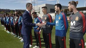 El Rey visitó a la selección en Las Rozas