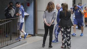 La selección de Argentina liderada por Leo Messi acudió a almorzar al restaurante Bellavista de Barcelona