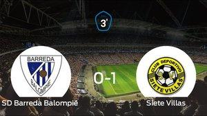 El Siete Villas ganó al Barreda Balompié por 0-1